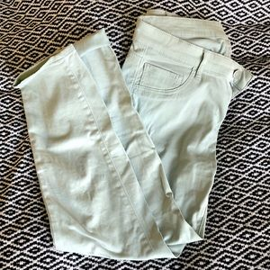 Pastel green Uniqlo cropped jeans